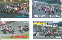 4 Télécartes Japon Moto Motor  (D 426) - Motos