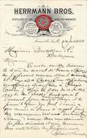Etats Unis. Kentucky - Louisville -  Entête Du 26 Juillet 1898 - Herrmann Bros. Fine Wines & Liquors - Invoices & Commercial Documents