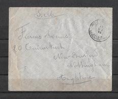 1915 POSTES MILITAIRES → Lettre à Nottingham England   ►RRR◄ - Weltkrieg 1914-18