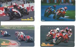 4 Télécartes Japon Moto Motor  (D 428) - Motos