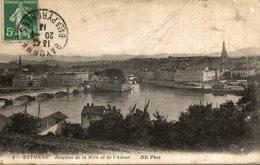 BAYONNE JONCTION DE LA NIVE ET DE L ADOUR - Bayonne