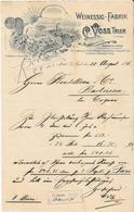 Allemagne - Trier (Trèves)  - Entête Du 20 August 1896 - J.C.Voss. - Weinessig-Fabrik.Extra Feiner Champagne - Essig - Germany