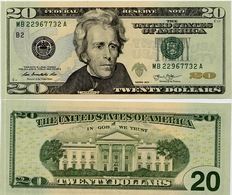 U.S.A.       20 Dollars       P-New       2013       UNC  [letter B: New York] - Federal Reserve Notes (1928-...)