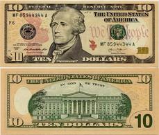 U.S.A.       10 Dollars       P-540       2013       UNC  [letter F: Atlanta] - Federal Reserve (1928-...)
