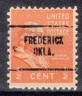 USA Precancel Vorausentwertung Preo, Locals Oklahoma, Frederick 704 - Vereinigte Staaten