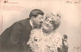LES BAISERS EMBRASSER BELLE MAMAN  PHOTO BERGERET CARTE PRECURSEUR CIRCULEE 1903 - Bergeret