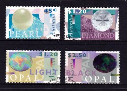 Australia 1995, 1996 Opals, Diamond & Pearl Both Sets Used - Used Stamps
