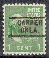 USA Precancel Vorausentwertung Preo, Locals Oklahoma, Garber 729 - Vereinigte Staaten