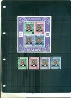 MALAWI X REPUBLIQUE 4 VAL+ BF NEUFS A PARTIR DE 0.50 EUROS - Malawi (1964-...)