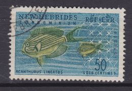 New Hebrides 1965 Mi. 202     50 C. Gestreifter Doktorfisch Fish Poisson - Englische Legende