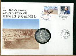 DEUTSCHE - Numisbrief - GENERAL FELDMARSCHALL  -  ERWIN  ROMMEL - Militaria