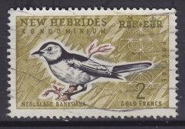 New Hebrides 1965 Mi. 203     2 Fr Bird Vogel Oiseau Gelbbauch-Raupenschmätzer - Englische Legende