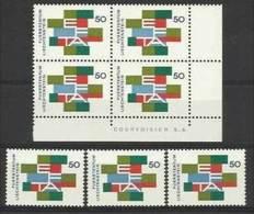 1967 Liechtenstein E.F.T.A. 7 Serie Efta (432): Quartina + 3 MNH** - Liechtenstein