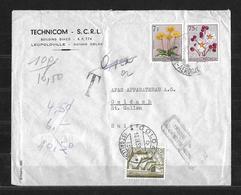 1957 BELGISCH KONGO → Letter Technicom S.C.R.L. Leopoldville  ►avec Un Affranchissement Punitif◄ - Congo Belge