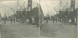 Originele Foto's Op Karton Stereoview Gent Gand Bassin Haven Stereoscope Stereokaart ( ZELDZAAM ) - Stereoscopic