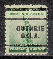 USA Precancel Vorausentwertung Preo, Locals Oklahoma, Guthrie 703 - Vereinigte Staaten