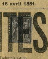 CHARENTE : JOURNAL Des DEUX CHARENTES Avec 1c Type SAGE Avec ANNULATION TYPOGRAPHIQUE - Marcophilie (Lettres)