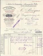 32 - GERS - GIMONT - FACTURE/LETTRE - 1919 -  MECANIQUE DE MOULINS / L. BROQUA - 1900 – 1949