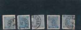 SUEDE -   Yvert N° 8 X 5 Oblitérés - 2 Scan - Suède