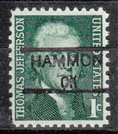 USA Precancel Vorausentwertung Preo, Locals Oklahoma, Hammon 835,5 - Vereinigte Staaten