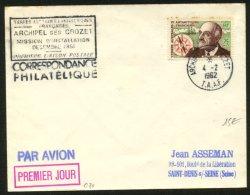 POLAIRE; TERRES AUSTRALES ET ANTARTIQUES FRANCAISE 25F Commandant Charcot Oblt ARCHIPEL DES CROZET 1962 - France (ex-colonies & Protectorats)