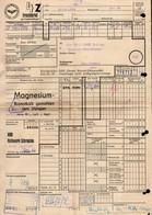 B2442 - Frachtbrief - Falken Limbach Oberfrohna Schraplau VEB Kalkwerk - Rechnung 1967 - Deutsche Reichsbahn - Germany
