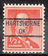 USA Precancel Vorausentwertung Preo, Locals Oklahoma, Hartshorne 841 - Vereinigte Staaten