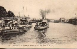 """56 LORIENT  Départ Du Bâteau - Le """"Port  Louis"""" - Lorient"""