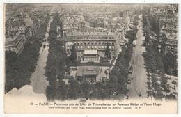 75 - PARIS 16 - Panorama Pris De L'Arc De Triomphe Sur Les Avenues Kléber Et Victor Hugo - AP 20 - Arrondissement: 16