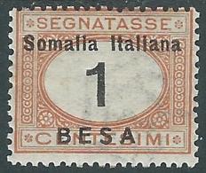 1923 SOMALIA SEGNATASSE 1 B MH * - I48-10 - Somalia