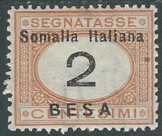 1923 SOMALIA SEGNATASSE 2 B MH * - I48-9 - Somalia