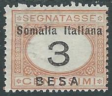1923 SOMALIA SEGNATASSE 3 B MH * - I48-8 - Somalia