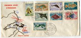 RC 7995 COTE DES SOMALIS FDC 1er JOUR SERIE POISSONS TB - Collections, Lots & Series