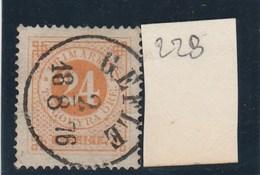 SUEDE -   Yvert N° 22 B Dentelé 14 Oblitéré Cachet Gefle 1876 - 2 Scan - - Suède