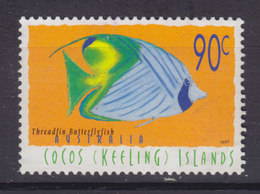 Cocos (Keeling) Islands 1997 Mi. 359     90 C. Fisch Fish Poisson Fähnchen-Falterfisch - Kokosinseln (Keeling Islands)