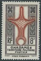 1949 OCCUPAZIONE TERRITORIO MILITARE GHADAMES 8 F MH * - I49-4 - Fezzan & Ghadames
