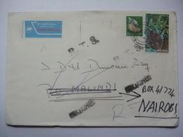 KENYA 1980 Air Mail Cover Nairobi To Malindi With Return To Sender And Unclaimed Cachets - Kenia (1963-...)