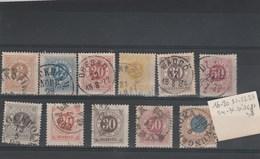 SUEDE - Lot  Yvert N° 16 + 20 à 24 + 31 + 35 à 38 Oblitérés  - 2 Scan - - Suède