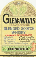 Etichetta Originale GLEN:MAVIS - Scotch Whisky Product Of Scotland - Standa - Whisky