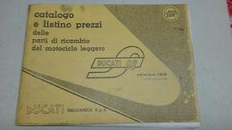 Ducati 98 - Catalogo Listino Prezzi Parti Ricambio - Ediz. 1956 - Motori