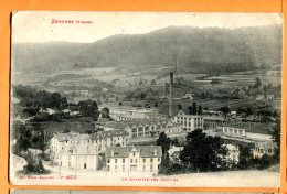 T129, Senones, Le Quartier Des Gouttes, Usine, 10643, Circulée 1917 Sous Enveloppe - Senones