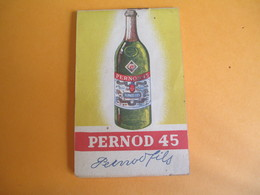 Pernod45/ Petit Bloc-note De Bar/ Pernod Fils / Vers 1930-1950              OEN8 - Alcools