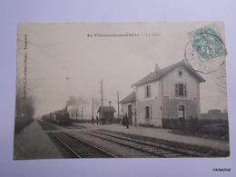 LA VILLENEUVE AU CHENE-La Gare-Train - France