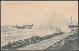 South West Monsoon, Breakwater, Colombo, Ceylon, C.1905-10 - Plâté & Co Postcard - Sri Lanka (Ceylon)