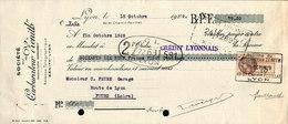 Lettre De Change - Lyon - Société Du Carburateur Zénith, 1929 - Bills Of Exchange