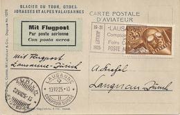 Poste Aérienne Lausanne-Zurich -1925 - Non Classés