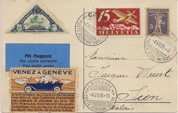 Poste Aérienne Genève-Lausanne-Sion - 1925 - Timbres