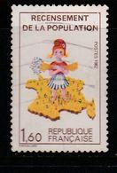 FRANCE N° 2202 1.60 MULTICOLORE RECENSSEMENT DE LA POPULATION  SANS LE 7 DANS LA CORSEE OBL - Curiosidades: 1980-89 Usados