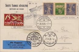 Poste Aérienne Lausanne-Berne - 1926 - Timbres