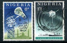 Nigeria 1963 Peaceful Use Of Outer Space Set Used (SG 131-32) - Nigeria (1961-...)